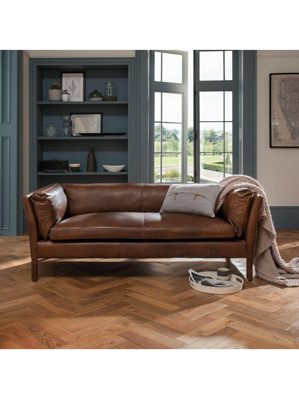 John Lewis Halo Groucho Medium Leather Sofa Riders Nut Rrp 1 699 Ebay Leather Sofa Sofa Sofa Design