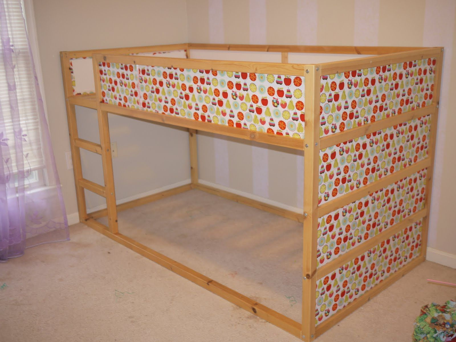 kura madeover with fabric Kid Bed Ideas Pinterest