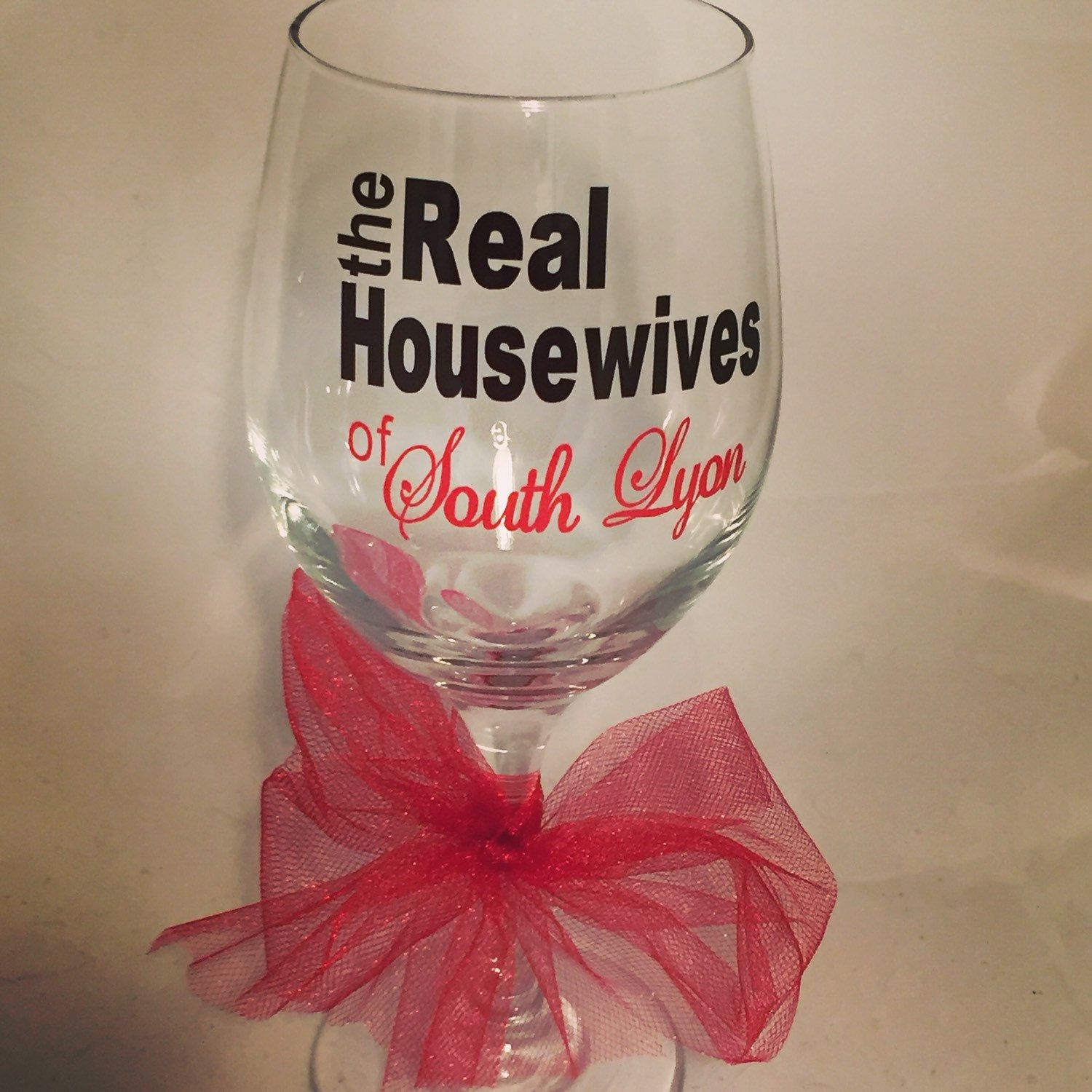 Personalized Real Housewives 20oz Wine Glass Wine Glass Glass Wine