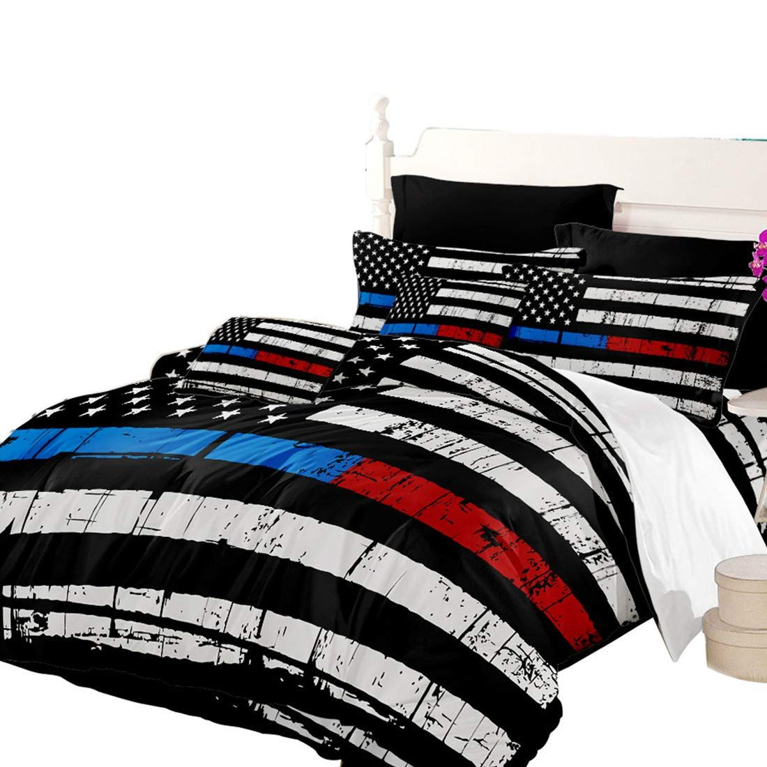 Oliven Quilt Cover Queen Size American Flag Printed Duvet