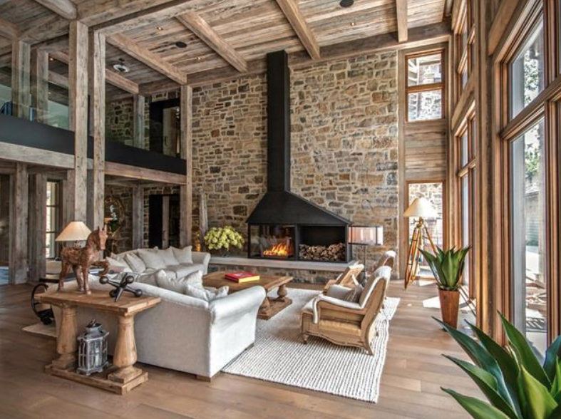 Waterfront Home In Quebec With Stunning Rustic Modern Interior Homes Of The Rich Waterfront Homes Modern Interior Rich Home