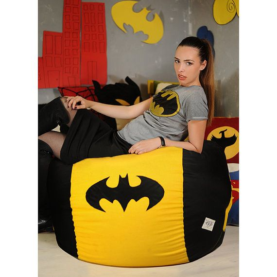 batman bean bag chair adult handcrafted beanbag size quality fabric kids room ideas curtains