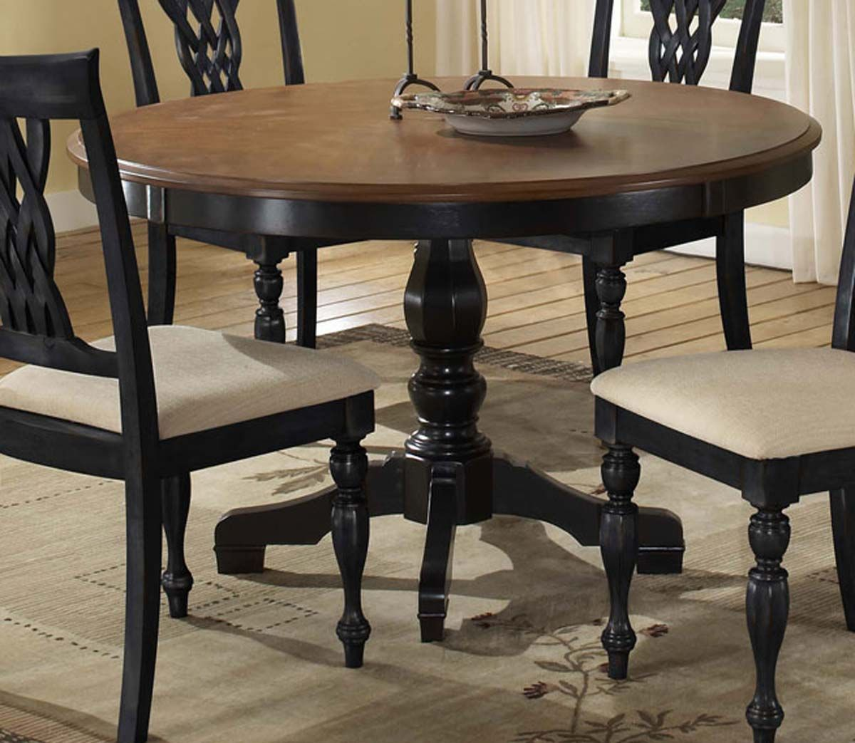 Hillsdale Embassy 5 Piece Dining Set Rubbed Black Cherry