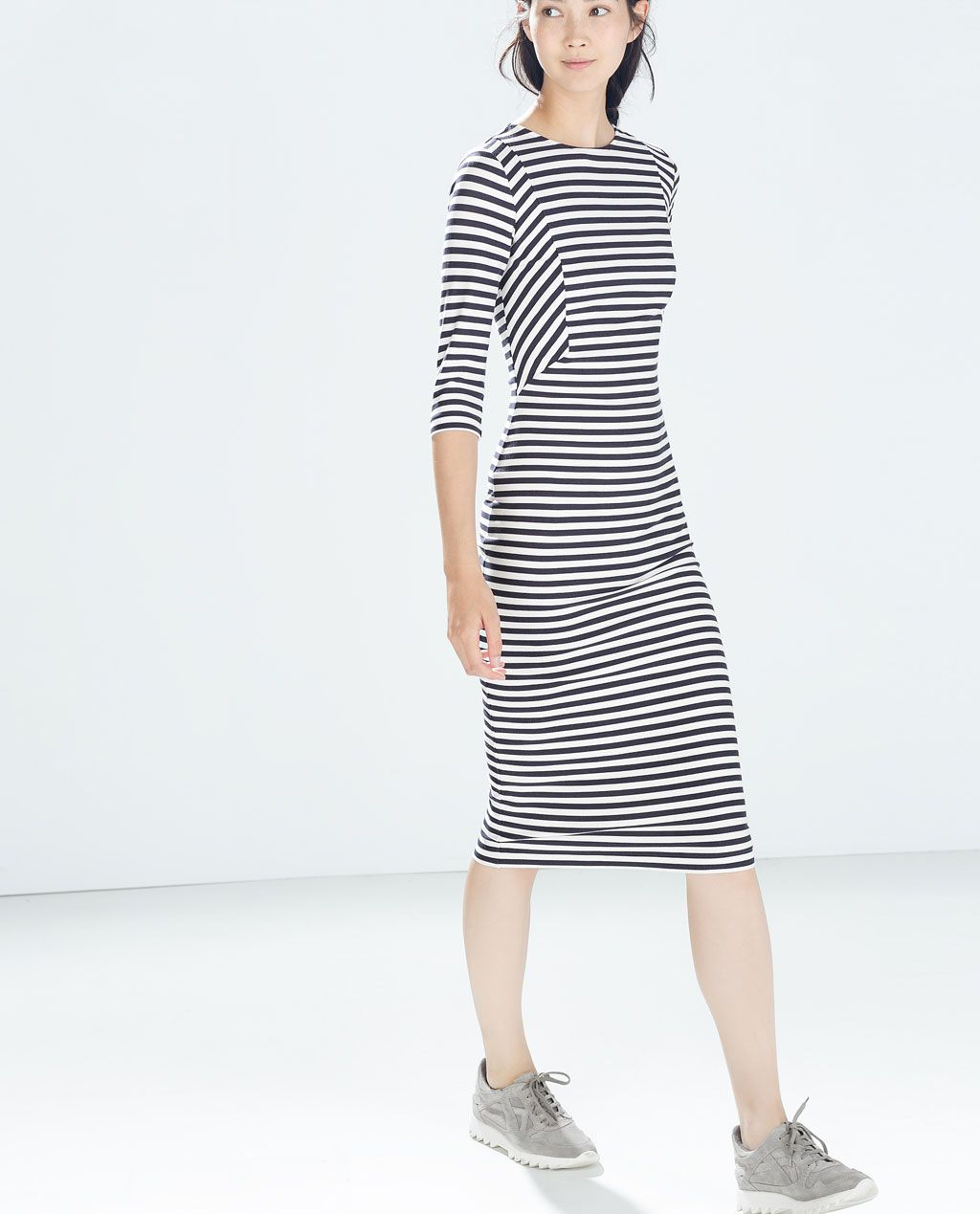 Image 2 of STRIPED DRESS from Zara Vestidos, Vestuário