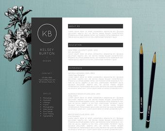 Modern Resume Template Professional Resume Template Cover Letter Template References