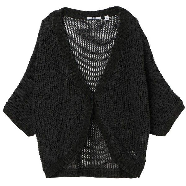 UNIQLO Women Tape Yarn Cropped Short Sleeve Cardigan ($5.90 ...