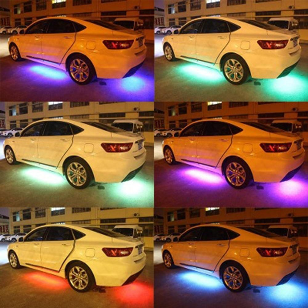 Itl 4x Rgb Led Under Car Tube Strips Waterproof Light Kit Ishoplifestyle In 2020 Remote Control Cars Car Dream Cars