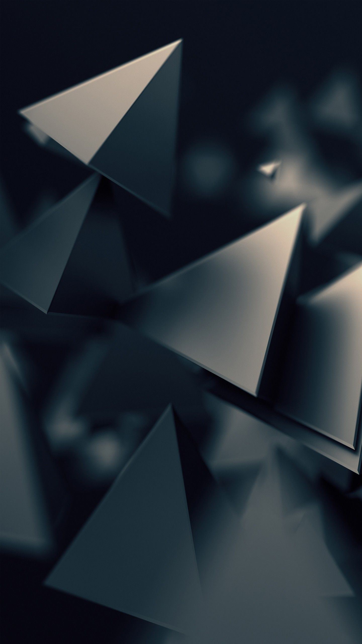 Abstract 3d Triangles Dark Wallpapers Wallpaper Abstract Qhd Wallpaper