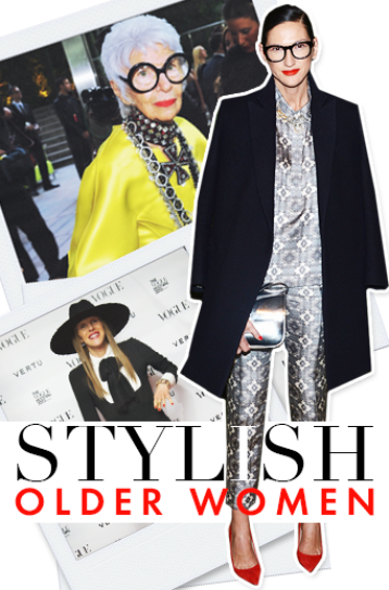 Personal style gets better with age! 50 stylish older women #slideshow