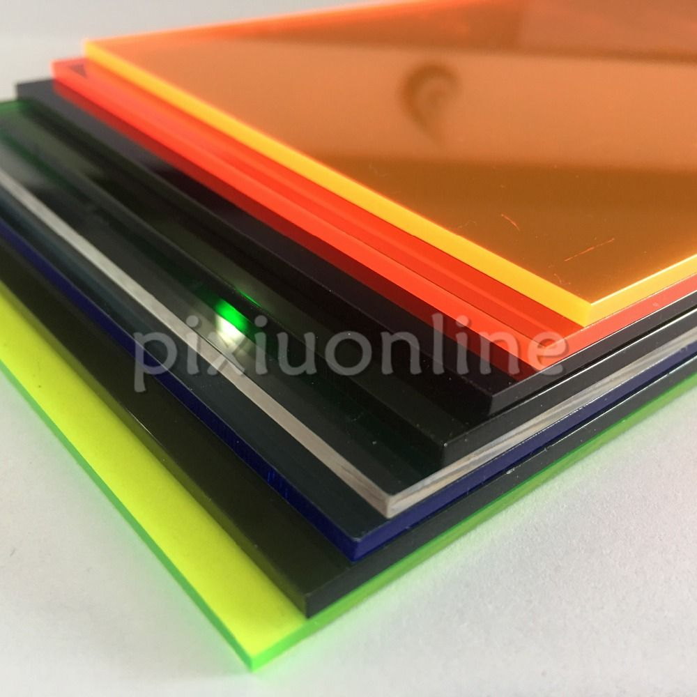 1pc J351 8 Different Colors Choose Acrylic Board 10 20cm Perspex Board Transparent Plastic Sheet Diy Mak Transparent Plastic Sheet Acrylic Board Plastic Sheets