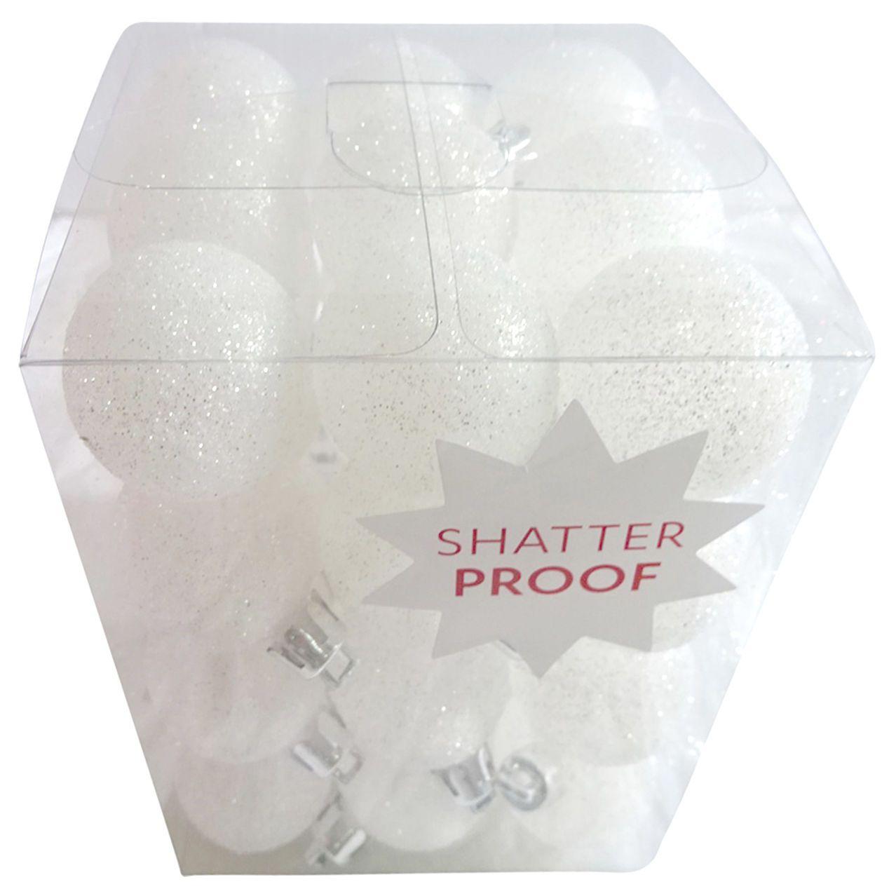 White Gleam Ornaments 36 Count 30 Mm Wine Glass