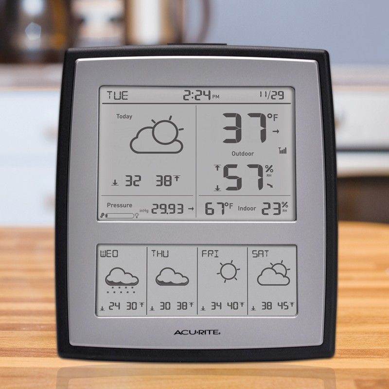 AcuRite 5 Day Forecast Digital Weather Station 02035 Gift Pinterest