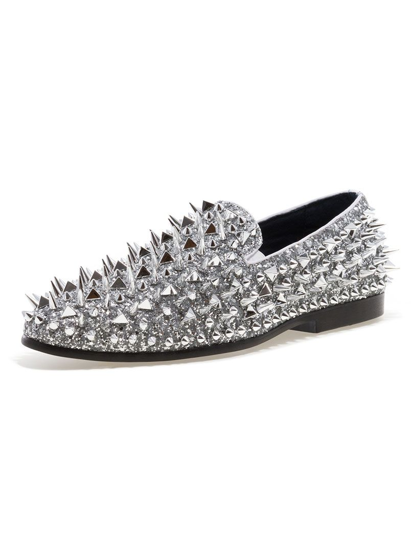 1ad953410eef JUMP NEWYORK Lord Silver Spike Loafers