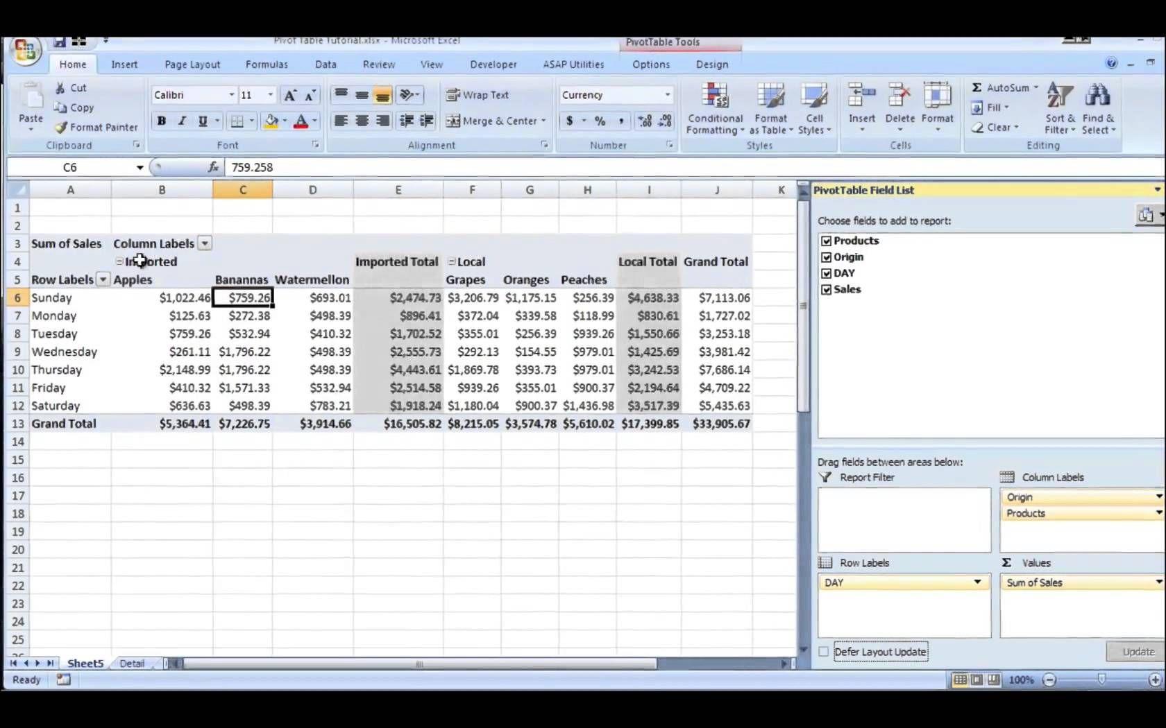 Excel Pivot Table Tutorial | Excel tutorials, Pivot table, Excel