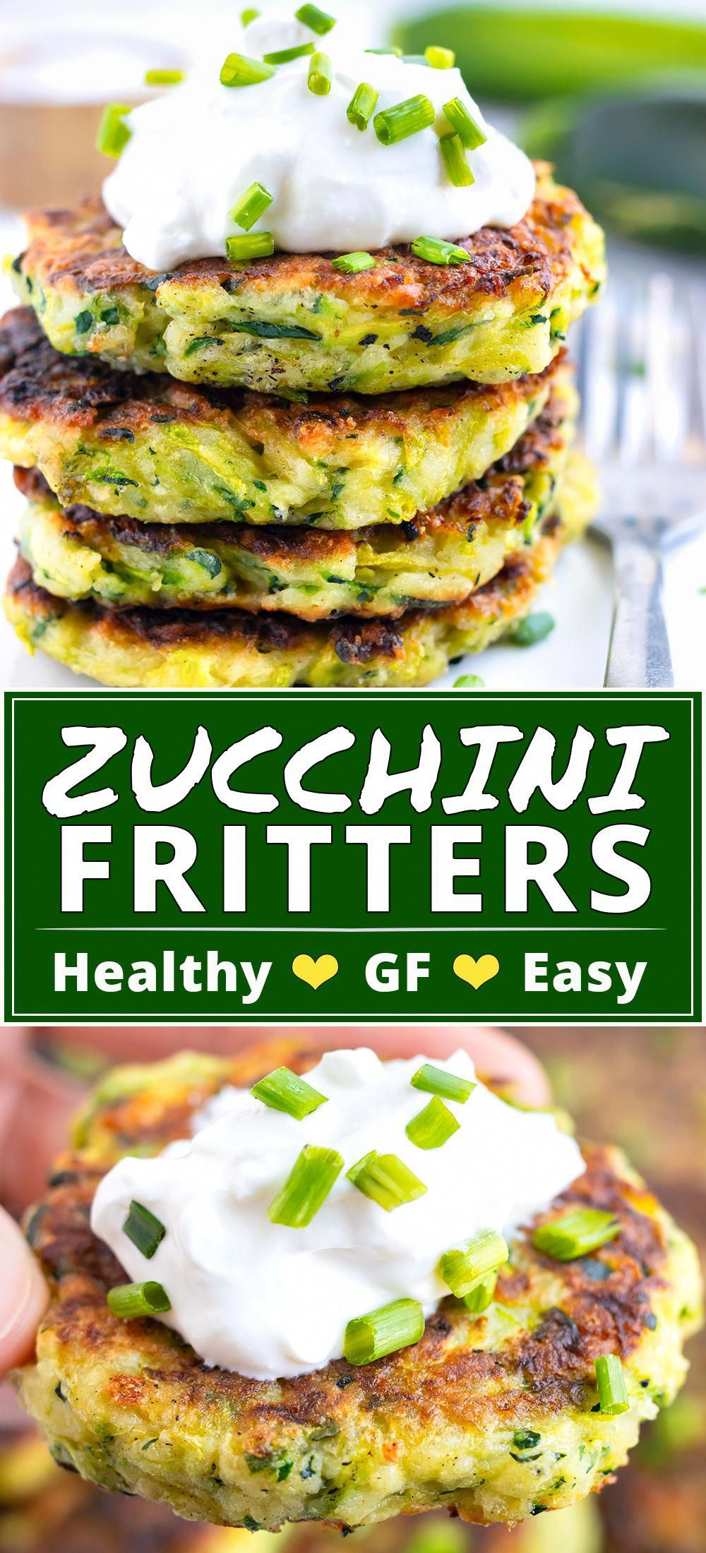 Crispy Baked Zucchini Fritters Recipe  Zucchini Fritters are a healthy glutenfree side dish or appetizer recipe that is made from grated zucchini Parmesan cheese and a to...