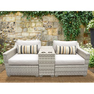 TK Classics Fairmont 3 Piece Deep Seating Group With Cushion Fabric: