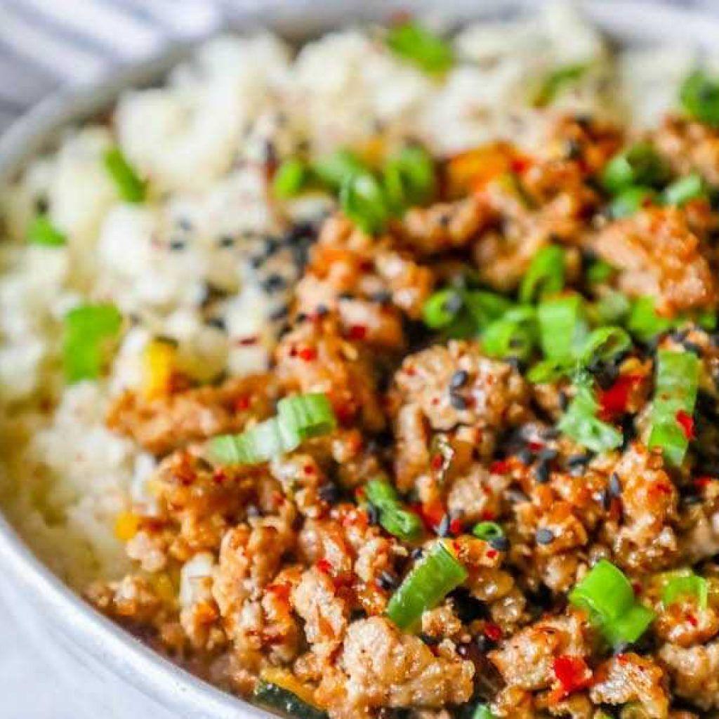 GROUND TURKEY TERIYAKI RICE BOWL | Ground turkey recipes ...