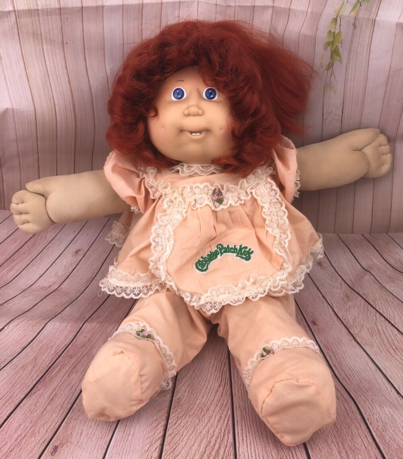 Vintage 1986 Cabbage Patch Kids Doll Redhead Girl With Corn Silk Hair Teeth Ebay Cabbage Patch Kids Vintage Cabbage Patch Dolls Cabbage Patch Kids Dolls