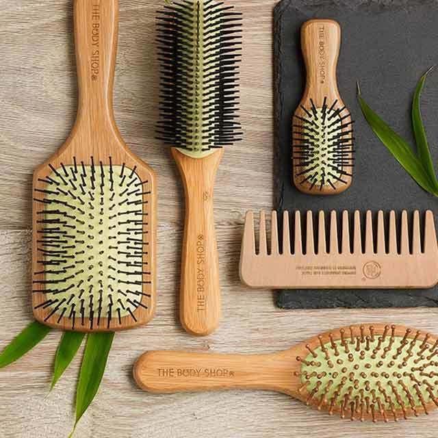 Oval Bamboo Pin Hair Brush Bamboo Hair Brush Body Shop At Home The Body Shop
