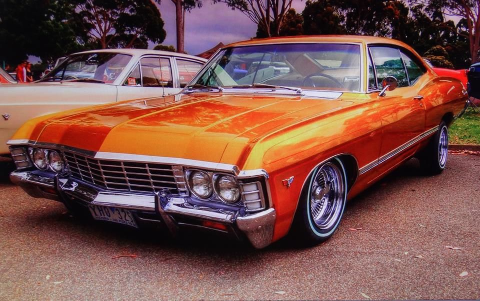 1967 Chevy Impala. OMG I love the color!! I want this ride soo bad!
