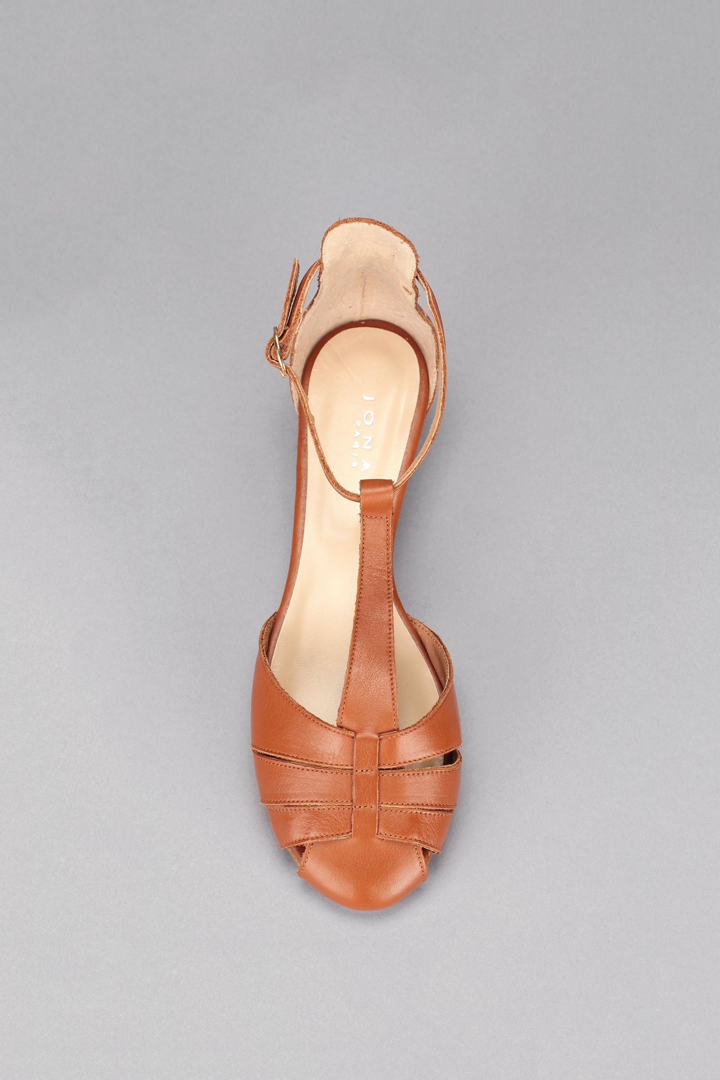 Sabot sandales en cuir naturel à lanières entrelacées