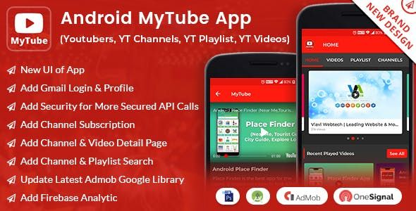 Android MyTube App (Youtubers,YT Channels,YT Playlist,YT