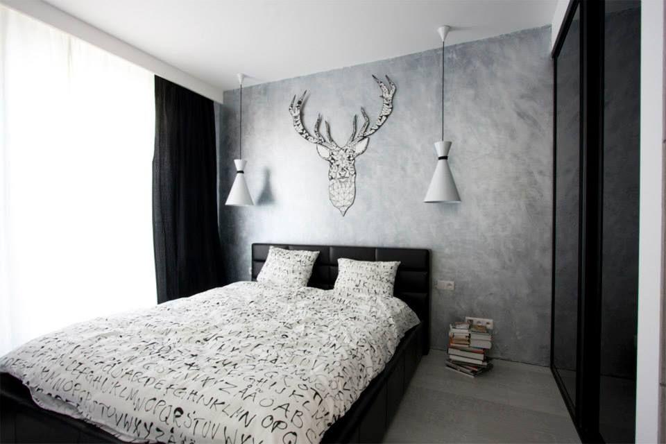 Czarno Biała Sypialnia Aranżacja Sypialni Bedroom W 2019