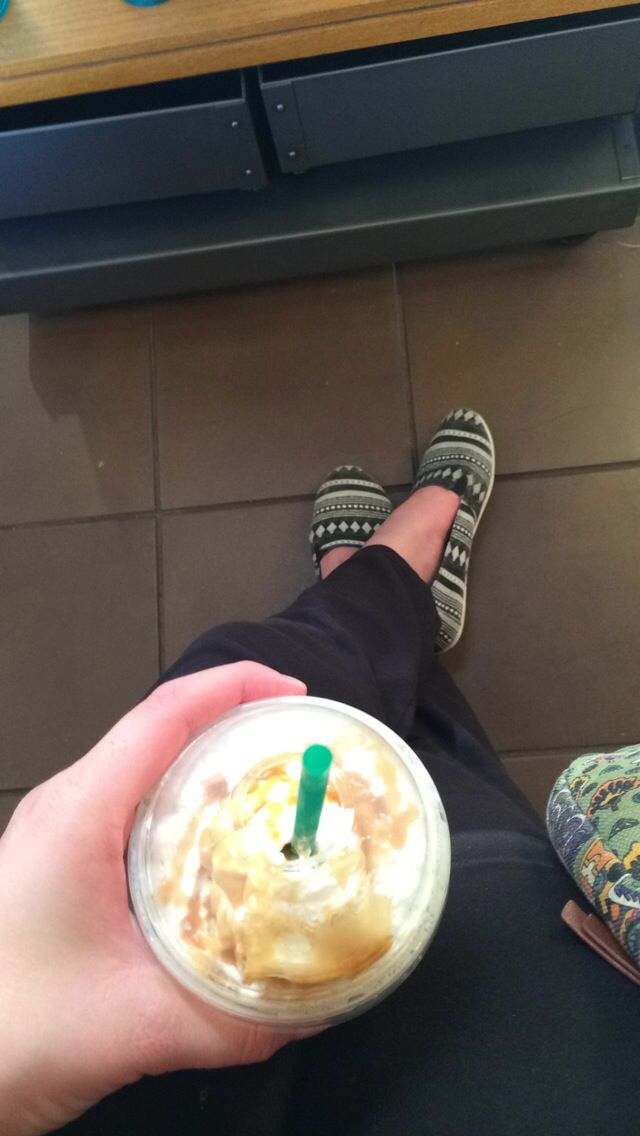 Pre-rehearsal Starbucks.