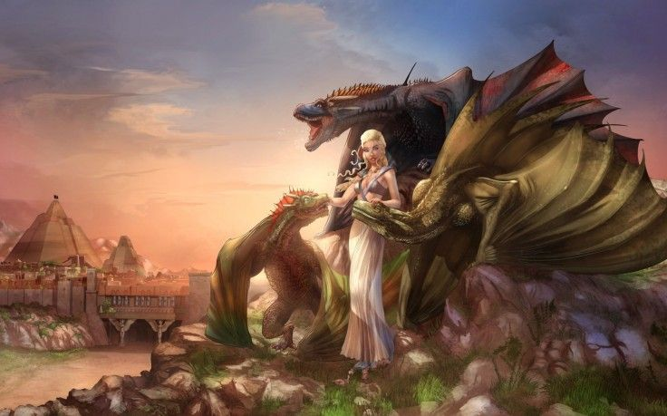 Daenerys Targaryen, Game Of Thrones, Dragon, Fantasy Art
