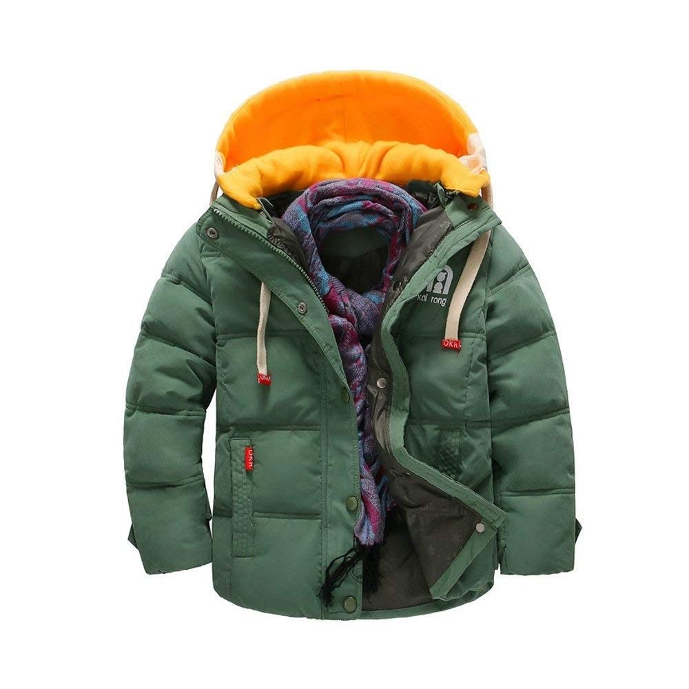 New Children Boys Winter Coats Down Overcoats Hooded Warm Quilted Puffer Outwear