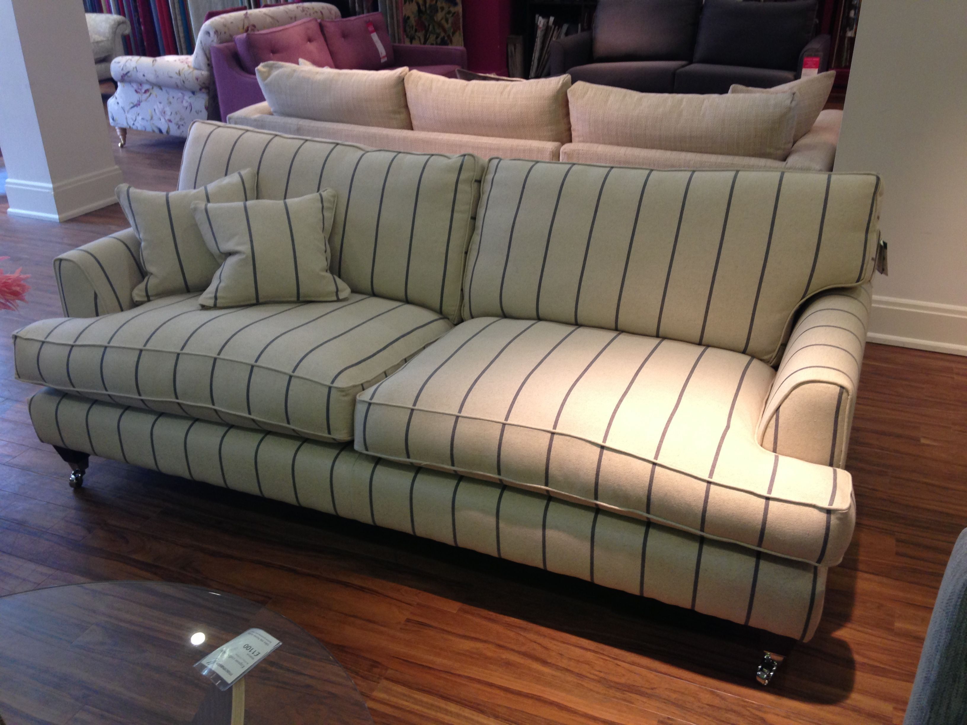 Florence sofa in Heron Stripe