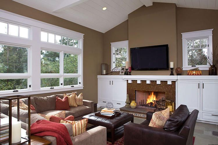 Traditional Living Room Paint Color Ideas For The Living Room (home Decor).  Love This Color Brown