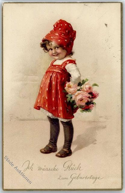 Kunstlerkarte Namenstag Ansichtskarten Center Onlineshop Vintage ChildrenVintage BirthdayVintage LadiesBirthday
