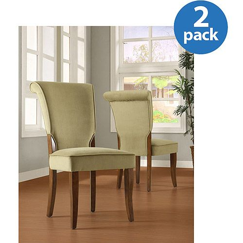 Homelegance Olive Velvet Parsons Side Dining Chair Set Of 2 Brown Finish Walmart Com Side Chairs Dining Dining Chairs Side Chairs