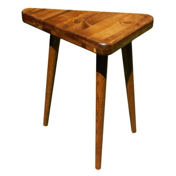 mid century inspired triangle side table 7 155 php liked on