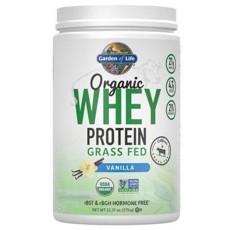 Garden Of Life Organic Whey Protein Grass Fed Powder Vanilla 13 37 Oz Walmart Com In 2020 Grass Fed Whey Protein Powder Organic Whey Protein Powder Grass Fed Whey Protein
