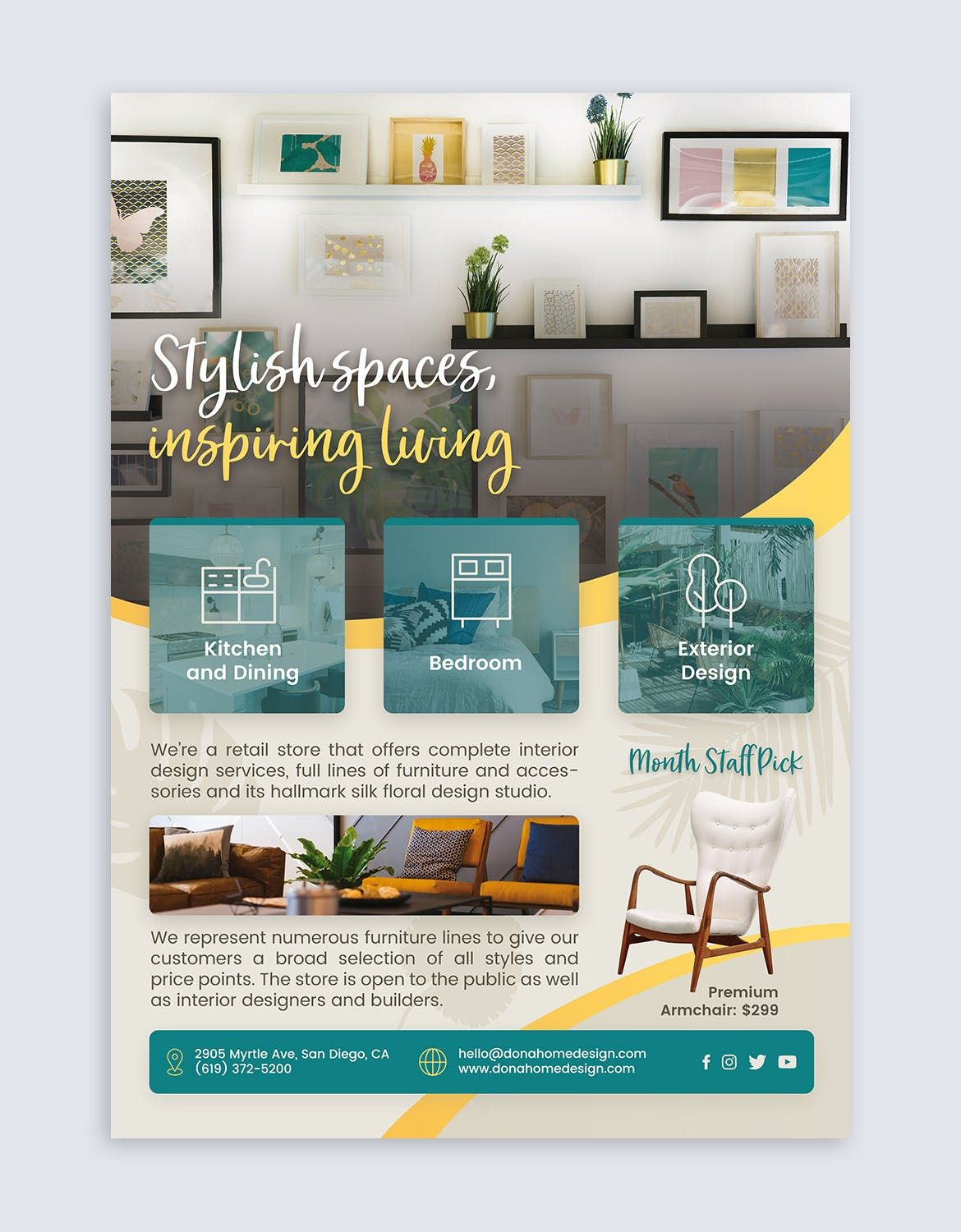 Home Interior Design Flyer Template Psd Download With Images