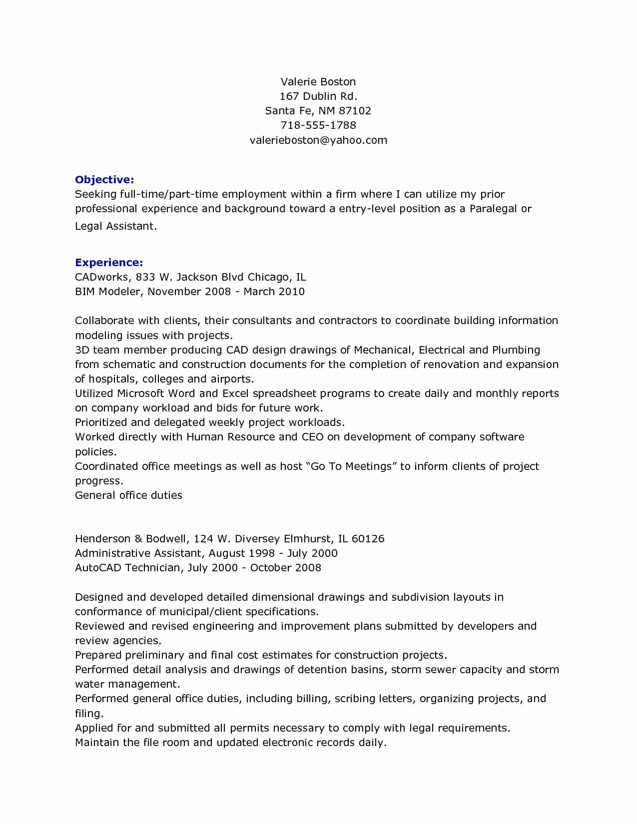 Legal assistant Resume Examples Luxury Personal Injury