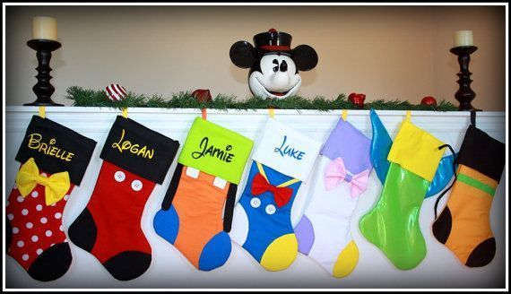adorable disney stockings available on etsy disney christmas crafts disney christmas decorations disney ornaments