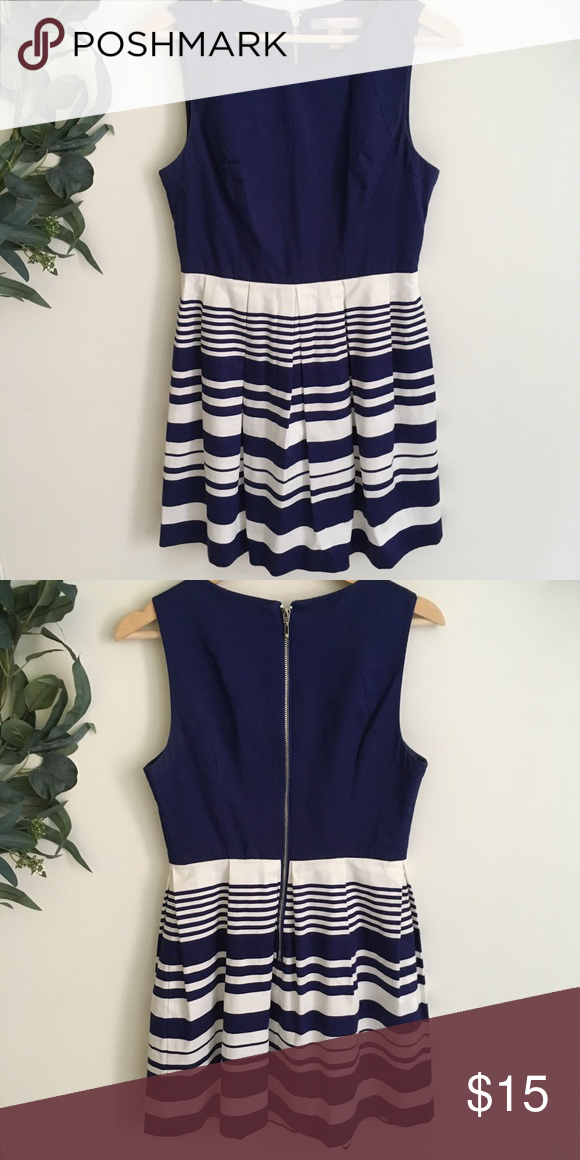 9803ff87a1 Forever 21 Navy Blue Striped Tank Dress Forever 21 navy blue tank dress