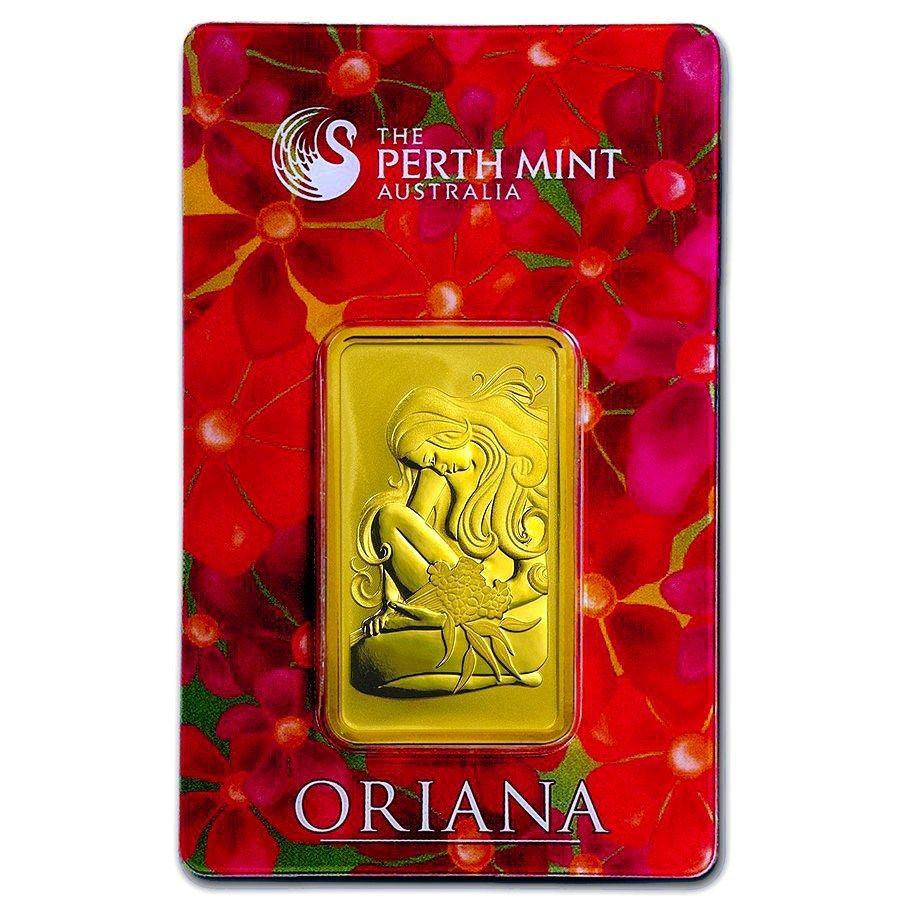 1 Oz Gold Bar Perth Mint Oriana Design In Assay Gold Price Chart Gold Bar Gold Bullion