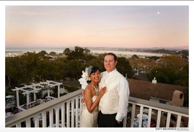 Bride & groom at the stunning Perry House overlooking Monterey Bay | http://eventsbyclassic.com