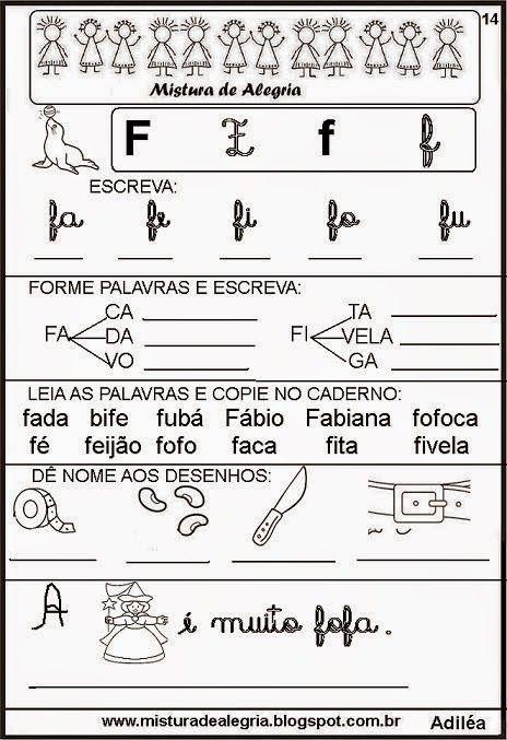 Cartilha De Alfabetizacao Infantil Livro Das Familias Silabicas