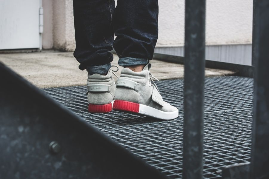 Bb 5040 Men 's adidas Originals Tubular Invader Strap Sesame