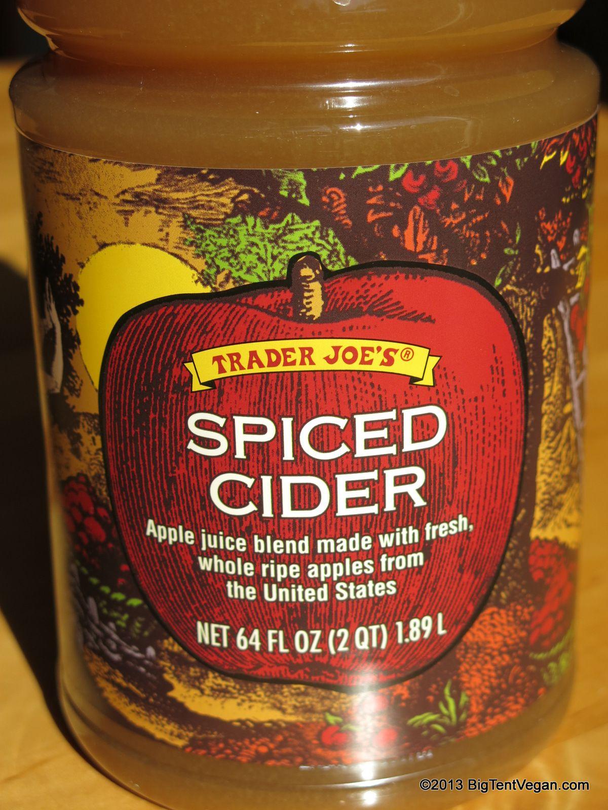 Spiced Apple Cider Vegan at Trader Joe's Pinterest