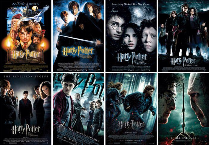 All Of The Harry Potter Movies In Order Harry Potter Movie Posters Harry Potter All Movies Harry Potter Film