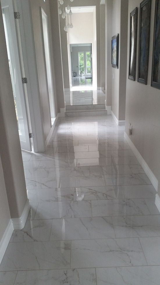 White Grey Floor Tiles