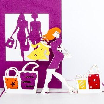 Pop Up Karte Shopping Gutschein Shoppen Bestefreundin Bff Einladung Stadtbummel Bummeln Shoppen Einkaufsgutschein Gutscheine Hobbys Gutscheinkarten
