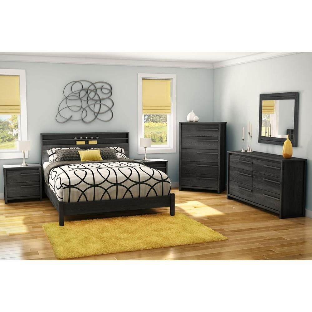 South Shore Tao 32 1 2 In H X 16 1 2 In D 6 Drawer Double Dresser In Gray Oak Master Bedroom Furniture Bedroom Collections Furniture Furniture