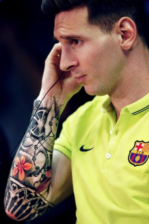 That sleeve tattoo #Messi